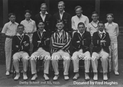 Fred Hughes - Derby School - Cricket 2nd XI 1935