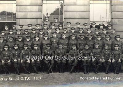 Fred Hughes - Derby School - OTC 1937