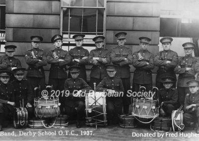 Fred Hughes - Derby School - OTC Band 1937
