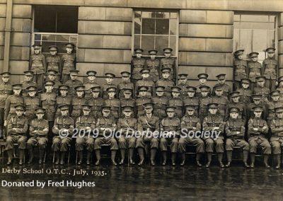 Fred Hughes - Derby School - OTC July 1935