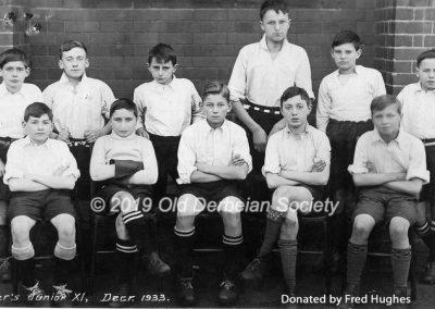 Fred Hughes - Derby School - Tanner's Junior XI Dec 1933