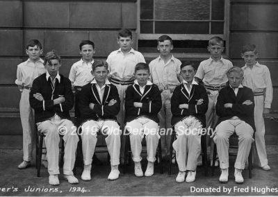 Fred Hughes - Derby School - Tanner's Juniors 1934