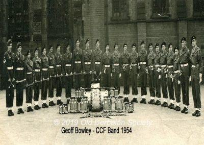 Geoff Bowley - CCF Band 1954