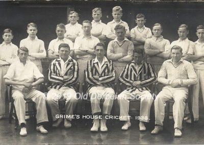Grimes House Cricket 1938