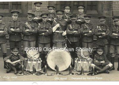 Harold Pipes - OTC Band July 1928