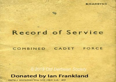 Ian Frankland - CCF RAF Cadets Log front page 1