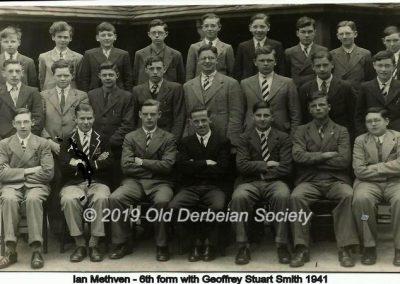 Ian Methven - 6th form with Geoffrey Stuart Smith 1941