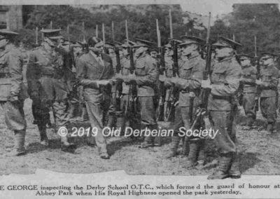 Jack Bussell - HRH Prince George Visit OTC Inspection 30 June 1931