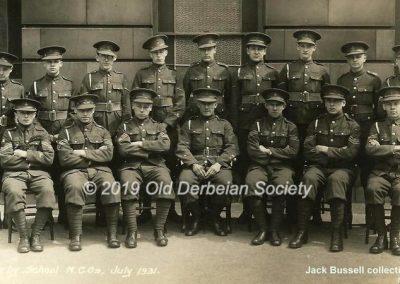 Jack Bussell - OTC NCO's July 1931
