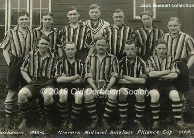 Jack Bussell - Old Derbeian Society Football Team 1933-34 winners
