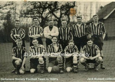 Jack Bussell - Old Derbeians Society Football Team in 1930's