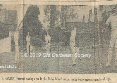 Jack Bussell - Parents versus boys cricket match 1930's