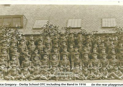 Janice Gregory - Derby School OTC including band 1916