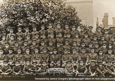 Janice Gregory - Derby School OTC including band 1917