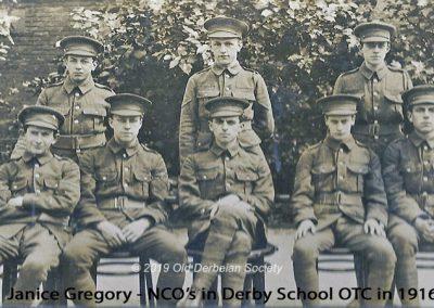 Janice Gregory - NCO's in Derby School OTC 1916