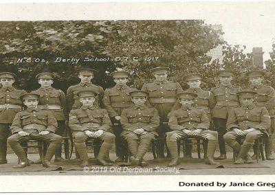 Janice Gregory - NCO's in Derby School OTC 1917