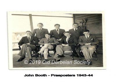 John Booth - Praeposters 1942-43