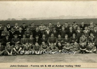 John Dobson - Forms 4A & 4B 1942