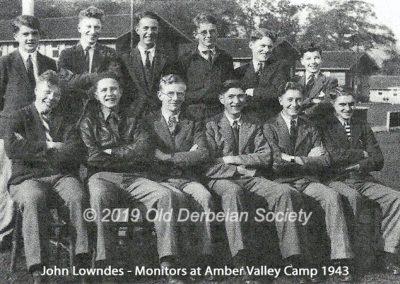 John Lowndes - Monitors at Amber Valley Camp 1943