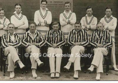 John Vale - Cricket 1st XI July 1931