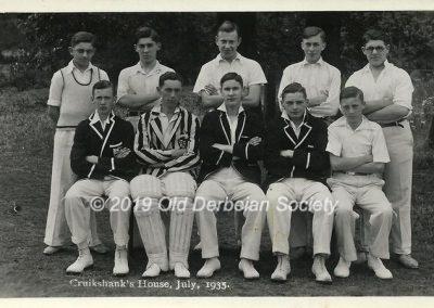 John Vale - Cruikshank's House Cricket July 1935