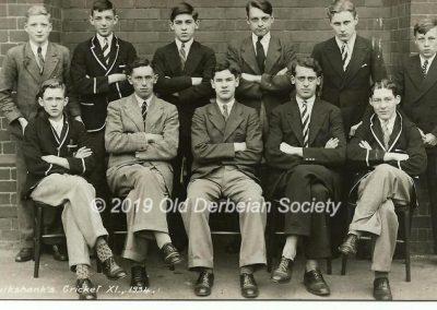 John Vale - Cruikshank's House Cricket XI 1934
