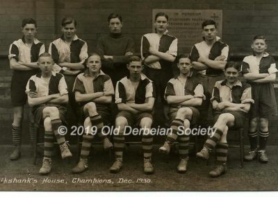 John Vale - Cruikshank's House Football Champions Dec 1930