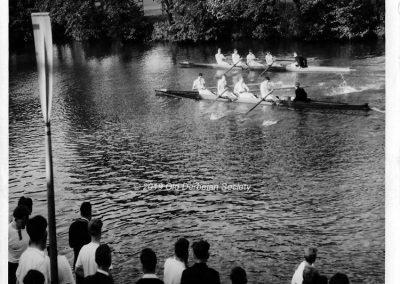 Malcolm Howie - Regatta Day 1961 DSRC 1st Crew beating DRC 1st Crew