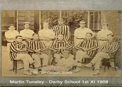 Martin Tunaley - Derby School 1st XI 1908