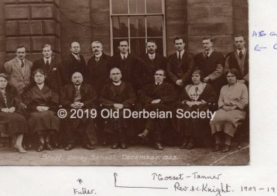 Masters 1923 of Derby School