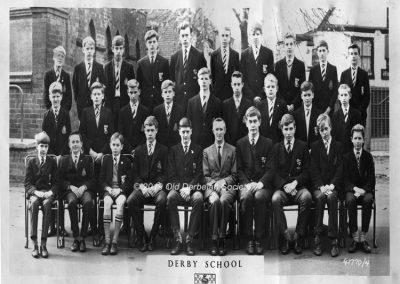 Maurice Cass - Derby School Swimming Team 1963