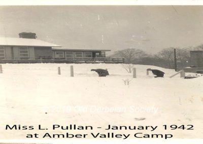 Miss L. Pullan - Jan 1942 at Amber Valley Camp