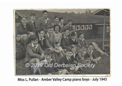 Miss L. Pullan - Piano Boys & Miss Pullan July 1943