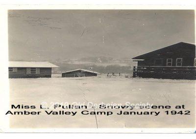 Miss L. Pullan snowy scene Amber Valley Jan 1940