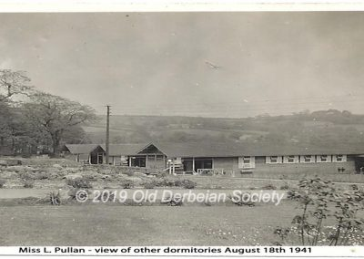 Miss L. Pullan - view of Dormitories Aug 1941