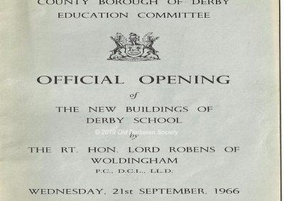 Moorway Lane School 1966 - Opening Day brochure