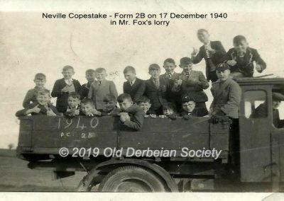 Neville Copestake -17 Dec 1940 in Mr Fox's lorry