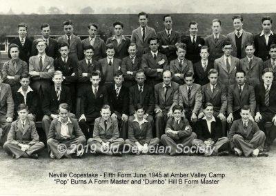 Neville Copestake - Vth Form June 1945