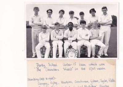 Nick Priestnall-Derby School U-15 Team 1965