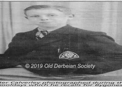 Peter Calverley - Second form Sept 1942