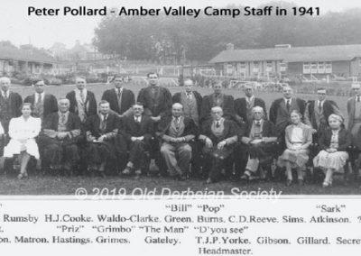 Peter Pollard - Amber Valley Camp Staff 1941