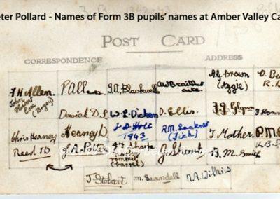 Peter Pollard - Form 3B names
