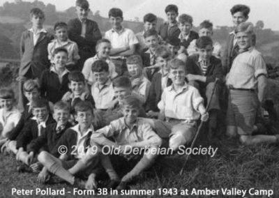 Peter Pollard - Form 3B summer 1943 Amber Valley Camp
