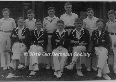 Raybould Fullers cricket 1936