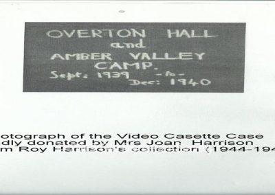 Roy Harrison - Video Cassette of Amber Valley Camp era