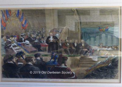 Royal visit 1872 - coloured drawing