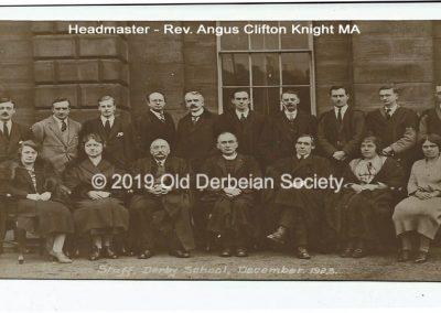 School Staff December 1923