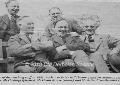 Some of the Teaching staff in 1943 at Amber Valley Camp