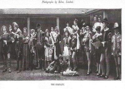 St. Helen's House - cast of school play 1897 outside cloisters