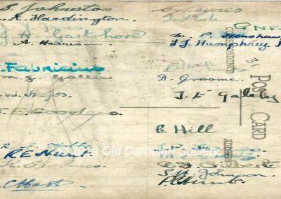 Stan J.H. Johnston Tanner's House signatures 1942